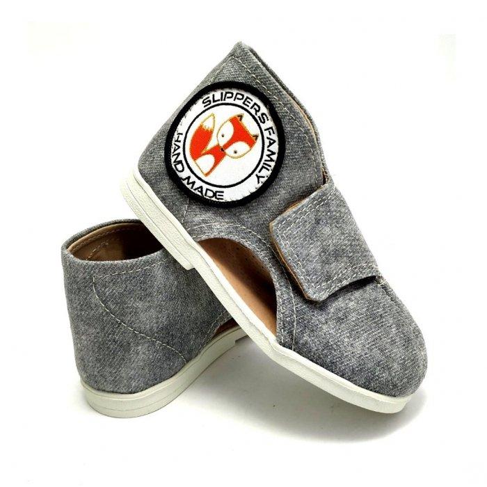 kapcie-dla-dzieci-slippers-family-jeans-ash-II