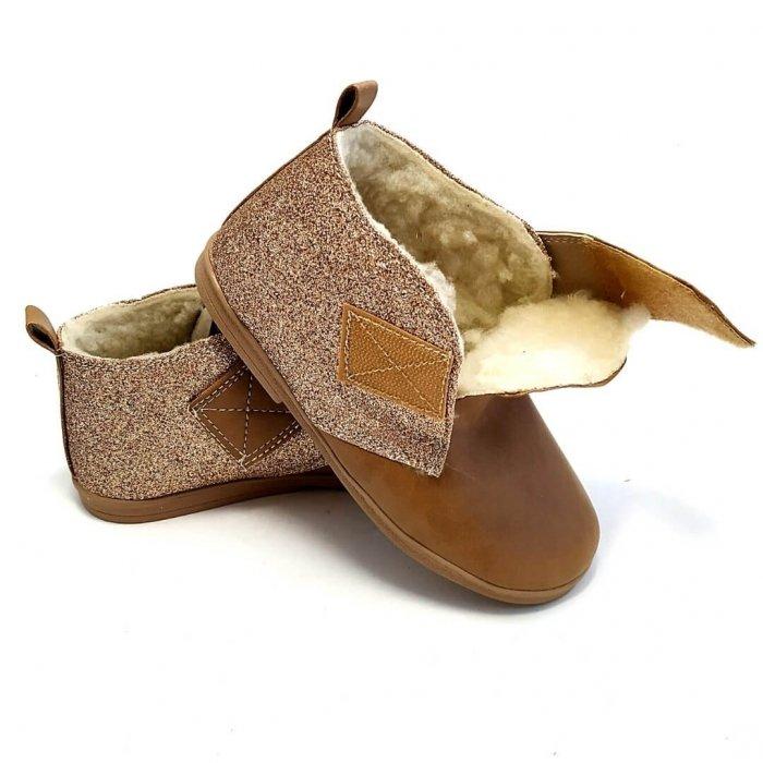 Buty dla dzieci ocieplane Sippers Family Gold