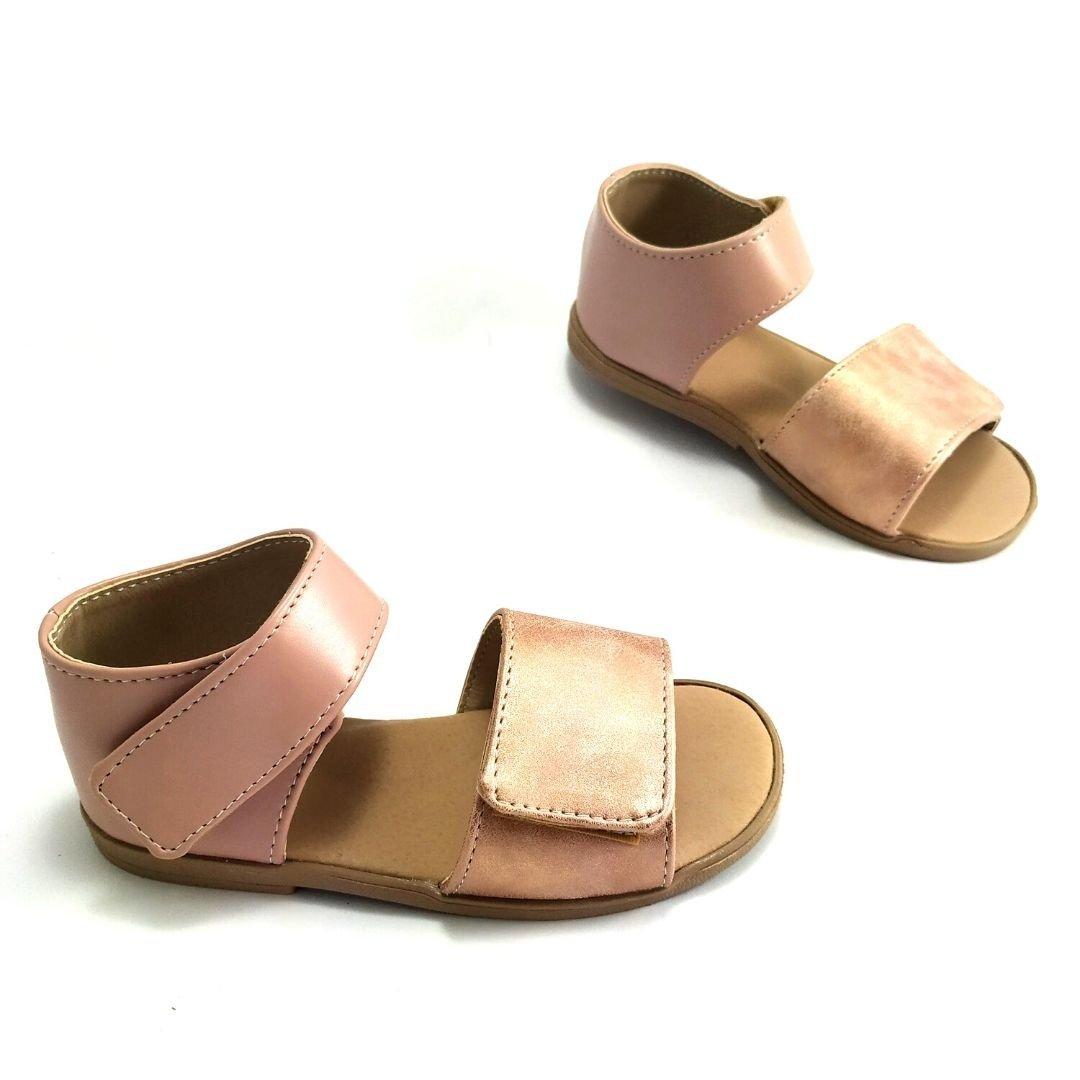 Sandały skórzane FIORI różowe sandałki dla dziewczynki