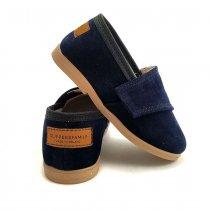 Buty dla dzieci wizytowe  AKSAMITNE Szafir