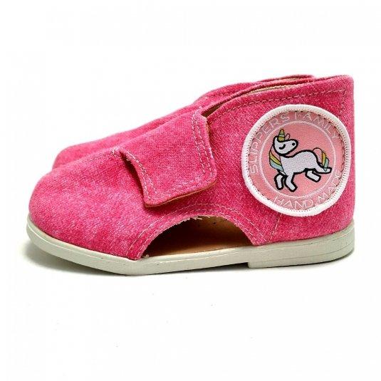 Kapcie dla dzieci na rzep Jeans DAISY II
