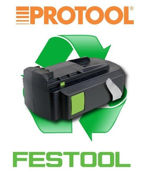regeneracja akumulatora li-ion Festool Protool 2,6Ah, 3,0Ah lub 4,2Ah