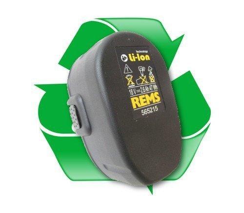 regeneracja akumulatora REMS 565215, 565217 18V 2,6Ah li-ion do zaciskarek REMS