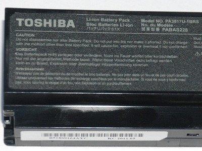 Toshiba Satellite A660, C650, L630, L650, M300, U400, U500 - 10,8V 6800 mAh