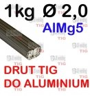 DRUT TIG AlMg5 DO ALUMINIUM  Ø 2,0 mm