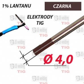 WL10 ELEKTRODA TIG CZARNA Ø 4,0 mm