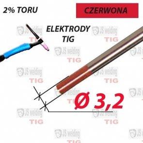 WT20 ELEKTRODA TIG CZERWONA Ø 3,2 mm