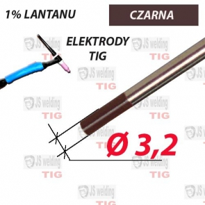 WL10 ELEKTRODA TIG CZARNA Ø 3,2 mm
