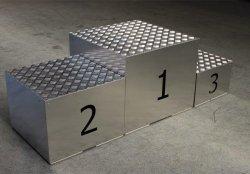 Podium aluminiowe składane