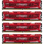 Ballistix Sport LT 16GB Kit DDR4 4GBx4 2400 MT/s DIMM 288pin red