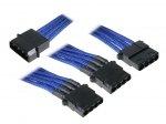 Rozgałęźnik BitFenix Molex na 3x Molex 55cm - opływowy niebiesko czarny