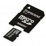 Transcend MicroSD Card  SDHC 8GB + Adapter / Class 10