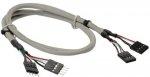 Przedłużacz InLine USB 2.0 wewnętrzny 2x 30cm