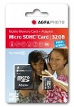 AgfaPhoto Mobile High Speed 32GB MicroSDHC Class 10 + Adapter