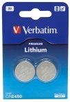 1x2 Verbatim CR 2450 Lithium