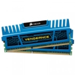 Corsair  8 GB DDR3-1600 Kit CMZ8GX3M2A1600C9B, Vengeance Blue, niebieski