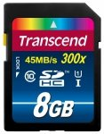 Transcend SD Card  SDHC  8GB Class 10 / UHS-I / 300x