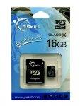 G.Skill microSDHC 16 GB Class 6, zawiera  Adapter