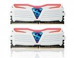 GeIL 16 GB DDR4-3000 Kit biały/czerwony, GLWR416GB3000C15ADC, Super Luce