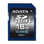 ADATA Secure Digital SDHC Card UHS-I 16 GB Class 10, Premier-Serie