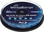 MediaRange BD-R 50 GB 6x, 10 szt.