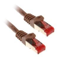 InLine 1m Cat.6 kabel sieciowy 1000 Mbit RJ45 - brązowy