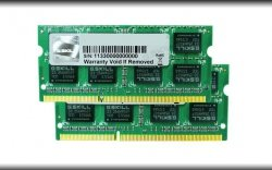 G.Skill SO-DIMM 4 GB DDR3-1600 Kit F3-12800CL9D-4GBSQ, SQ-Serie
