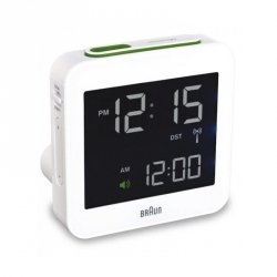 Braun BNC 009 Global Radio Controlled Alarm Clock biały