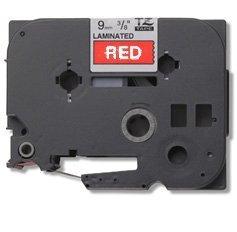 Brother  TZe-435 12 mm, biały na czerwonym
