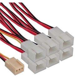 Adapter InLine 3-Pin na 6x 3-Pin do wentylatorów