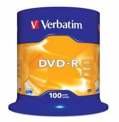 Verbatim DVD-R 4,7 GB 16x, 100 szt.