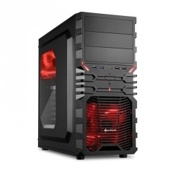 Sharkoon VG4-W Black Red Window - USB 3.0