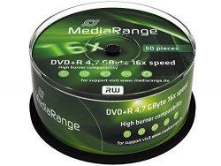 MediaRange DVD+R 4,7 GB 16x, 50 szt.