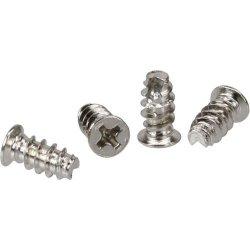śrubki do wentylatorów - 4 szt - srebrne