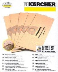 Karcher Papierowe torebki filtracyjne 5 szt. do serii WD 3
