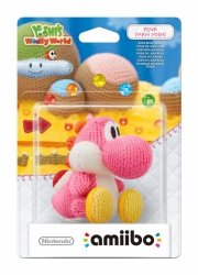 Nintendo amiibo Woolly World Pink Yarn Yoshi