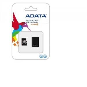 ADATA microSDHC 16 GB Class 4, plus Adapter, czarny