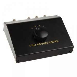 InLine 4-pozycyjny Audio Switch - Manualny - Cinch/3,5mm jack