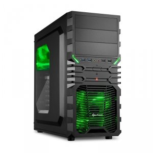 Sharkoon VG4-W Black Green Window - USB 3.0