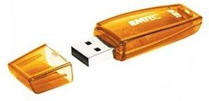 EMTEC Pendrive 128GB C410  USB 2.0 Color Mix orange