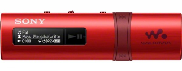 Sony Walkman NWZ-B183 czerwony - MP3-Player [4GB, USB-Stick]