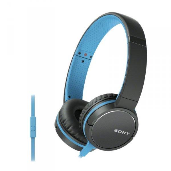 Sony MDR-ZX660AP (niebieski) -słuchawki (Pilot, Mikrofon)