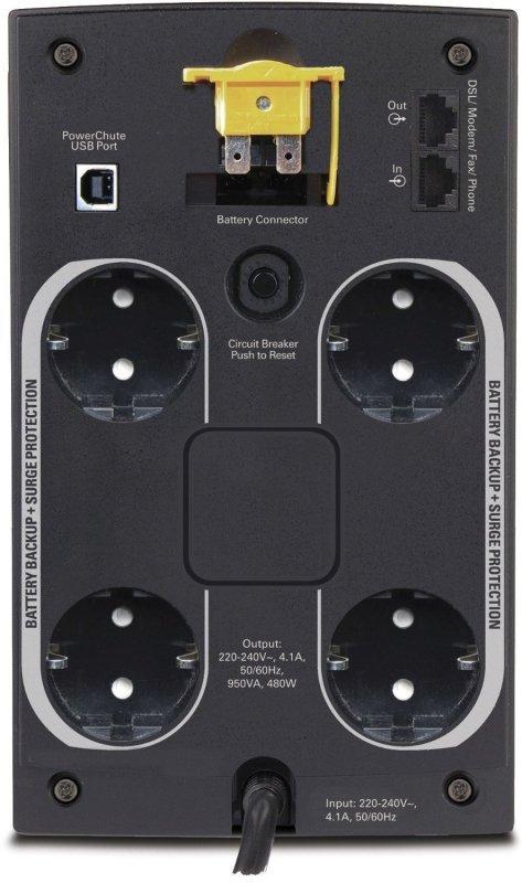 APC Back-UPS BX950U czarny, 950VA