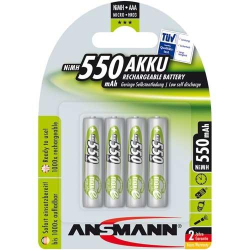 Ansmann Akku NiMH Micro 550 mAh 1x4