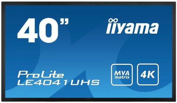 iiyama ProLite LE4041UHS, czarny, HDMI, DVI, DisplayPort, VGA, RS232,Audio