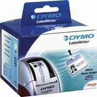 Dymo Removable White name badge 89mm x 41mm / 300 labels   11356