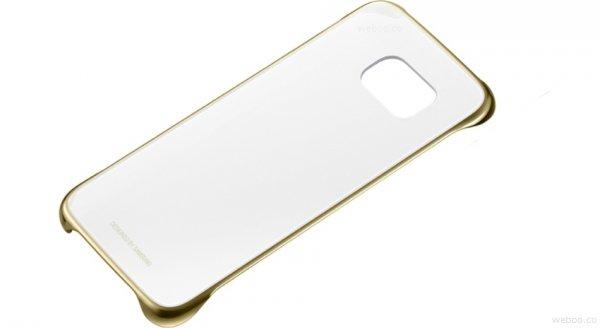 Samsung etui Clear Cover Gold do Galaxy S6 złoty