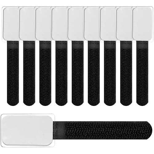 LABEL THE CABLE Etykiety na kable mini - czarne - 10 szt.