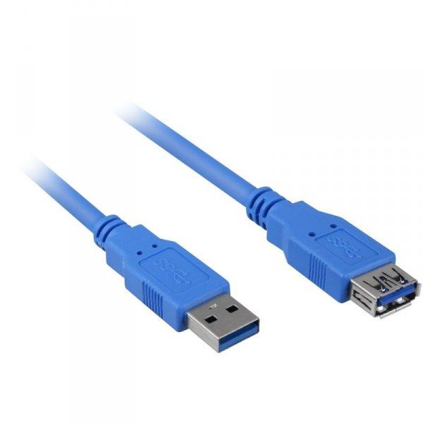 Sharkoon USB 3.0 przedłużacz blue 1,0m