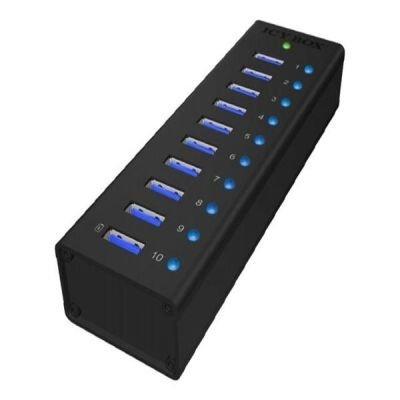 ICY BOX IB-AC6110 - HUB USB 3.0  10 Portowy